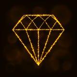 Diamantschattenbild von Lichtern Stockbild