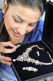 diamantsmyckenset Royaltyfri Foto