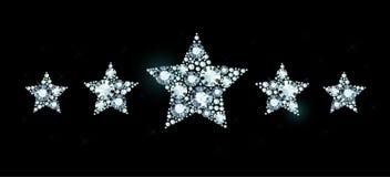 Diamantsterne Stockfoto