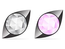 diamantsymbol royaltyfri illustrationer