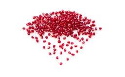 Diamantsymbol från många pomegranatefrö. Royaltyfria Bilder