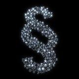 Stycke diamantsymbolet stock illustrationer