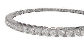 Diamanttennisbracelete Royaltyfri Foto