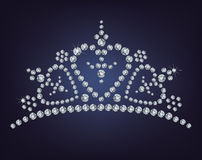 Diamanttiara Royaltyfria Bilder