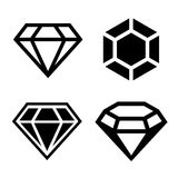 Diamantvektorikonen eingestellt Stockfoto
