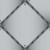 Diamantvormig metaalblad Royalty-vrije Stock Fotografie