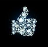 Diament Jak kciuk Up Podpisuje Zdjęcie Stock