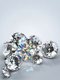diament odizolowywający klejnot Obraz Stock