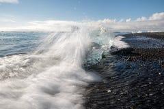 Diament plaża w Iceland Obraz Royalty Free