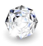 Diament z światłem na Białym tle Obraz Royalty Free