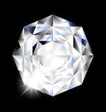 Diament z światłem na czarnym tle Zdjęcie Stock