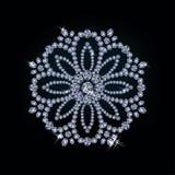 Diamentowa kwiat karta Fotografia Stock