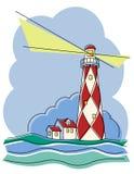 diamentowa latarnia morska ilustracji