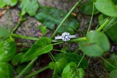Diamentowa obrączka ślubna obraz royalty free