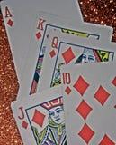 Diamentowa prosta istna wygrana kasynowa sztuka zdjęcie stock