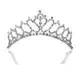 Diamentowa złocista tiara dla princess zdjęcie royalty free