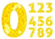 Diamentowe liczby Obrazy Royalty Free