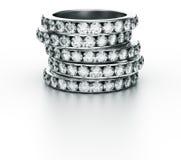 diamentowe pierścionki ilustracja wektor