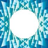 Diamentowego Abstrakcjonistycznego tła błękitny i zielony round ilustracji