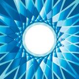 Diamentowego Abstrakcjonistycznego tła round błękitna rama ilustracji
