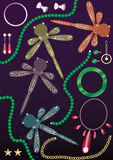 diamentowego dragonfly eps złocista chabeta perła Zdjęcia Stock