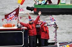 diamentowego jubileuszu widowisko Thames Obraz Royalty Free