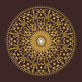 Diamentowego kwiatu okręgu tła luksusowy wektor Zdjęcie Royalty Free