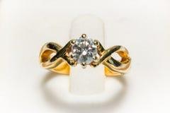 Diamentowego pierścionku zbliżenie Obraz Stock