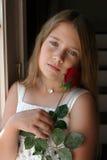 diamentowej dziewczyny kolii ładna czerwień wzrastał Obrazy Royalty Free
