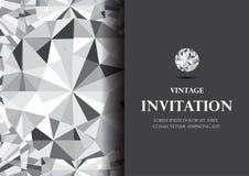 Diamentowej zaproszenie karty tła luksusowy wektor zdjęcia royalty free