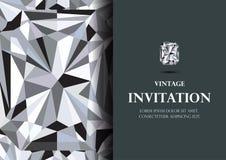 Diamentowej zaproszenie karty tła luksusowy wektor zdjęcie stock