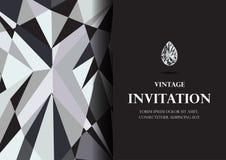 Diamentowej zaproszenie karty tła luksusowy wektor Zdjęcia Stock