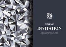 Diamentowej zaproszenie karty tła luksusowy wektor Obrazy Stock