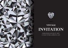 Diamentowej zaproszenie karty tła luksusowy wektor Obrazy Royalty Free