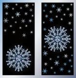 Diamentowi śnieżni sztandary Zdjęcie Royalty Free