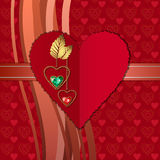 Diamentowi serca i fotograficznego papieru serce Obrazy Royalty Free