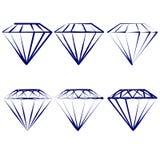 Diamentowi symbole ustawiający    wektorowa ilustracja Obraz Stock