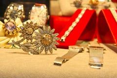 Diamentowy broszki rou Fotografia Royalty Free