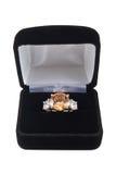 diamentowy citrine pierścionek Zdjęcie Stock