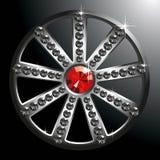 diamentowy drogi srebny koło ilustracji