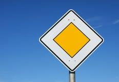 diamentowy drogowego znaka kolor żółty Zdjęcie Royalty Free
