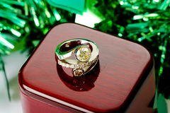 diamentowy koktajlu pierścionek Zdjęcie Stock