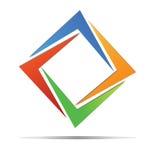 Diamentowy kolorowy logo Obraz Royalty Free