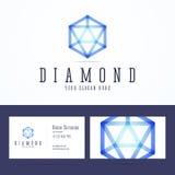 Diamentowy loga i wizytówki szablon Obraz Royalty Free