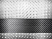 Diamentowy metalu tło, siatka i ilustracji