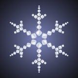 Diamentowy płatek śniegu Zdjęcia Royalty Free