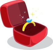 diamentowy pierścionek royalty ilustracja