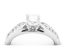 diamentowy pierścionek zaręczynowy Obrazy Stock