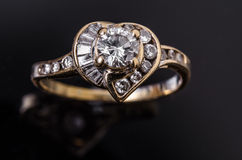 Diamentowy pierścionek Zdjęcia Stock