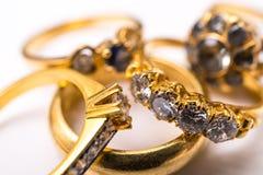 (1) diamentowy pierścionek Zdjęcie Royalty Free